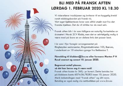 Fransk aften invitasjon